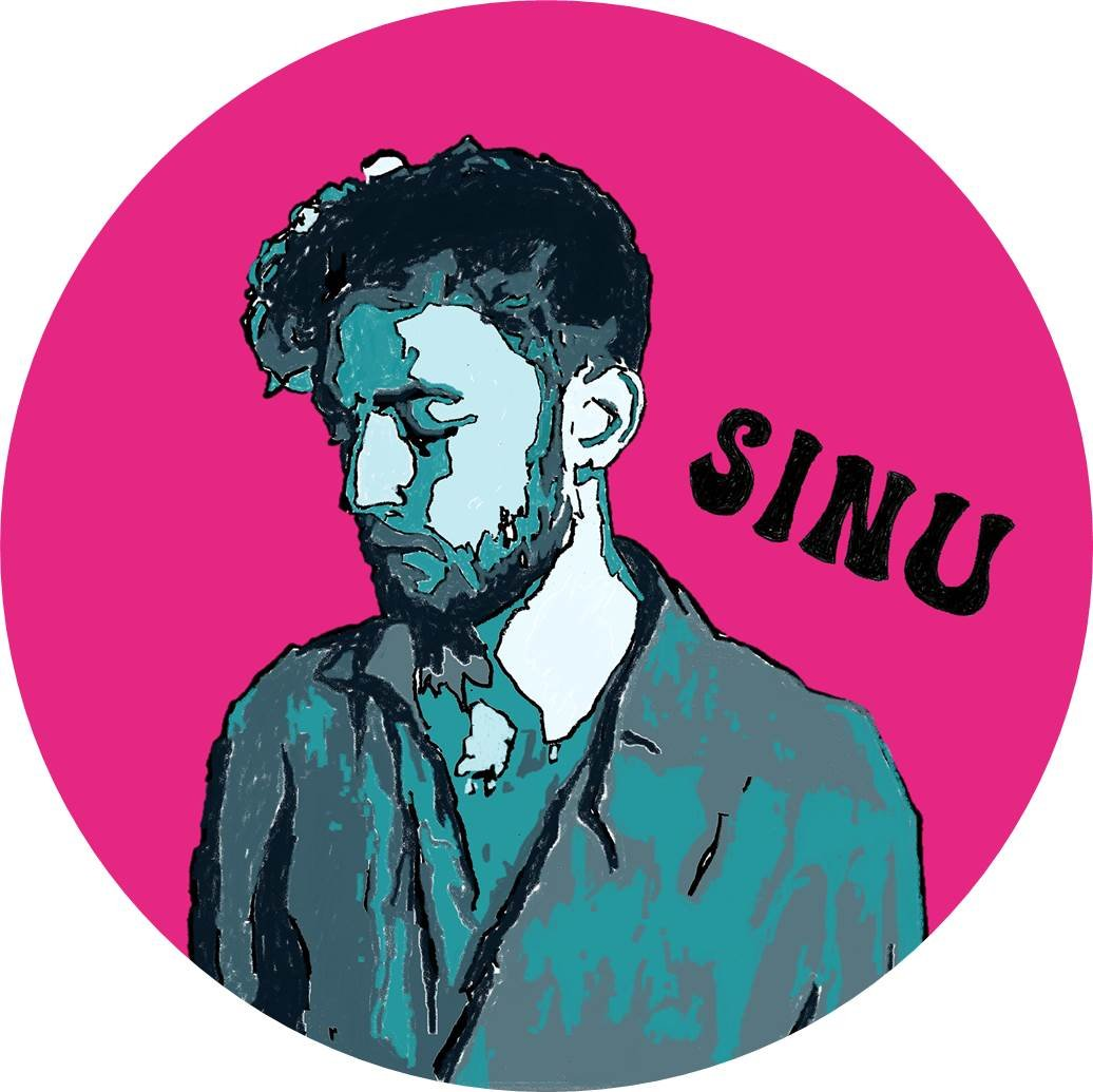 Sinu Sticker pink/blue 2019